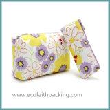 綿のキャンバス花の装飾的な袋旅行洗面所袋