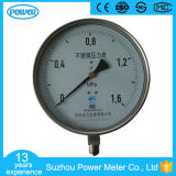 plein type manomètre de bas d'acier inoxydable de 8inch-200mm de pression de 1.6MPa