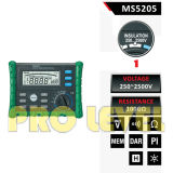 Het Elektro Digitale Meetapparaat met hoog voltage van de Isolatie (MS5205)
