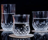 tazza di cristallo senza piombo trasparente di vetro del whisky della tazza classica del whisky 50-365ml