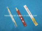 Palillos de bambú disponibles de bambú de la chapa del conjunto del PE con la cubierta