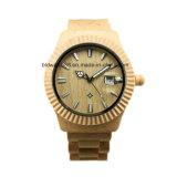 도매 질은 주문 로고를 가진 나무로 되는 손목 시계를