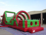 2016 nuovo Attractive Red e Green Inflatable Obstacle Course