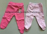 Pantaloni 100% del bambino dell'OEM del cotone con le ghette