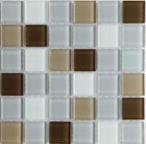 Tuiles de mosaïque de verre cristal