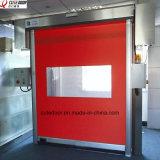 Remettre à l'état initial la porte industrielle de PVC de vitesse à réparation automatique de porte de tirette