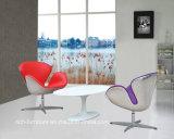 Cadeira de restaurante de lã de fibra de vidro de alumínio giratória moderna