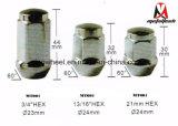 Noix M12X1.5 de cosse de roue de chrome