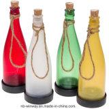Luz solar de la botella decorativa plástica colorida para la barra