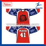 Kleurstof Gesublimeerd Afdrukkend Ijshockey Jerseys met Uitstekende kwaliteit