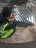 (0.13mm-0.8mm) Sgchは電流を通された鋼鉄屋根ふきシートを波形を付けた