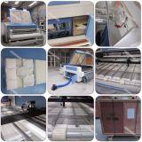 A tela da maquinaria de matéria têxtil etiqueta a máquina de estaca do laser com auto alimentação