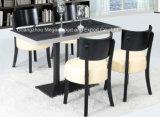 セットされる純木4のSeatersのホテルのレストランのダイニングテーブル(FOH-BCA08)