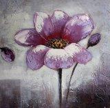 Peinture à l'huile de fleur pourprée