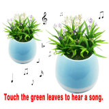 Altofalantes espertos de Bluetooth do piano do Flowerpot que jogam o altofalante da música com luz da noite do diodo emissor de luz