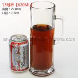 Taza de cristal del agua potable de la impresión de la insignia del OEM, taza de cristal de la cerveza