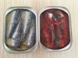 A faixa da sardinha no petróleo/enlatou peixes da sardinha/marisco enlatado/alimento enlatado