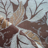 Tela 100% de Chenille teñida de los hilados de polyester del modelo de la hoja para el sofá