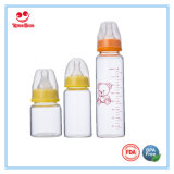 Padrão 240ml pescoço do bebê de vidro mamadeira