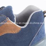 Ботинки безопасности неподдельной кожи PU Outsole с стальным пальцем ноги и стальной плитой
