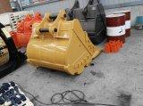 고양이 M318f 1.2cbm 바퀴 굴착기 바위 물통