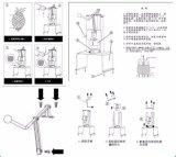 Piña manual que quita el corazón a la base de Peeler que quita la máquina