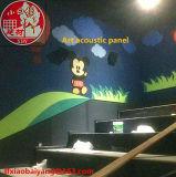El panel de techo del panel de la fibra de poliester de la insonorización del panel acústico del panel de pared