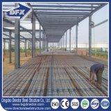 2017 nuevos edificios de acero pre dirigidos anchos diseñados del almacén del palmo con el suelo de entresuelo de acero de la cubierta