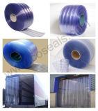 Porta com nervuras da cortina da tira do PVC para ambientes frios