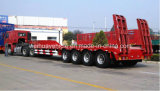 4 Axle Low Bed Semi Truck Trailer with 80t Payload