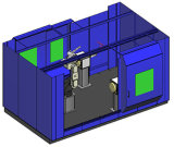 Système jumeau de robot de station avec les stations opposées d'opération