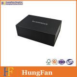 Роскошная бумага Matt черная напечатанная упаковывая складную складную коробку ботинка