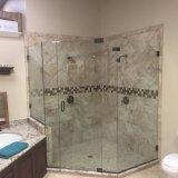 стекло 5mm ультра ясное Tempered для двери ванной комнаты