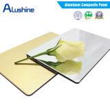 Feuille composée en aluminium d'ACP de panneau de miroir d'or décoratif (largeur de 1220mm)