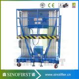 Piattaforma di lavoro di sollevamento aerea di alluminio elettrica mobile