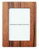 Frame de madeira Semi-Glossy da foto da noz/mesa do retrato com indicador de vidro