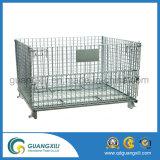 Cadena de malla de alambre plegable de acero / cesta de almacenamiento para estante de paleta
