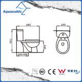Siphonic en deux pièces conjuguent la toilette blanche affleurante (ACT8221)