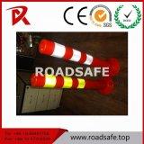 Alberino flessibile di Delineator della molla della colonna di ormeggio di traffico di sicurezza di obbligazione 75cm EVA