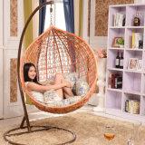 色彩工場屋外の振動、藤の家具、屋内卵のハングの椅子(D011)