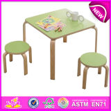 Cute colorido Design Wooden Furniture Table y Kids Chair para Baby