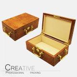Empaquetado de madera del rectángulo de regalo del perfume del diseño árabe al por mayor