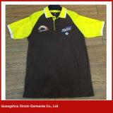 China-Formmens-Silkscreen gedrucktes Polo-Muffen-Shirt-Baumwollt-shirt 100% (P126)