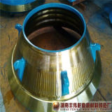Forro elevado da bacia do triturador do cone de Metso HP300 do aço de manganês