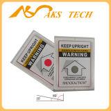 Versandneigung-Anzeiger-lehnender Kennsatz plus schützen Ladung