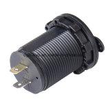 Soquete duplo impermeável do adaptador do carregador do USB para motocicletas do fuzileiro naval do carro