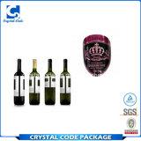 Zoll druckte Kleber gerollten Wein-Flaschen-Aufkleber