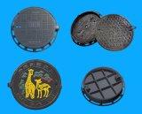 Couverture de trou d'homme ronde de fer malléable