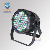 Le fournisseur 54*3W RGBW DMX polychrome de Rasha Chine imperméabilisent la lumière extérieure de la PARITÉ DEL