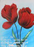 Het Met de hand gemaakte Olieverfschilderij van de Stijl van de Bloem van de schoonheid